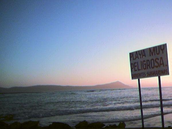Ensenada Beach Warning