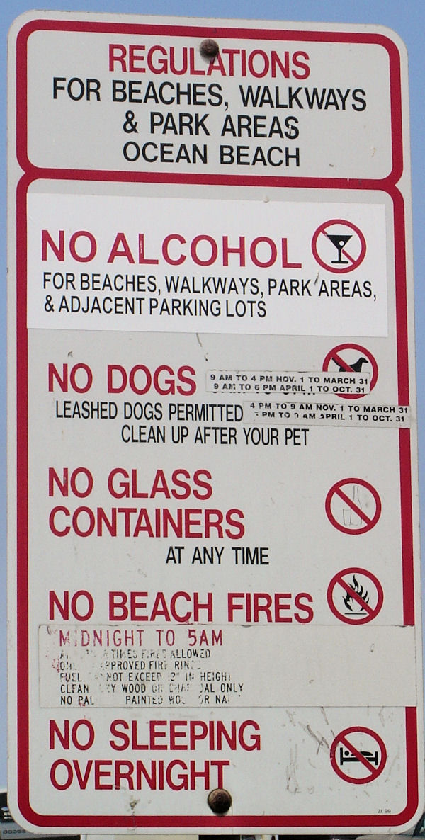 Ocean Beach Welcomes You To Behave