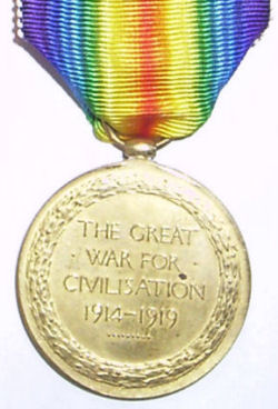 Gerald Pearce WWI Medal - Reverse