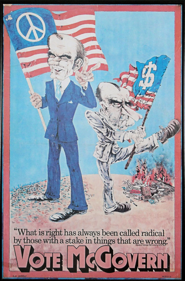 1972 McGovern Campaign Poster