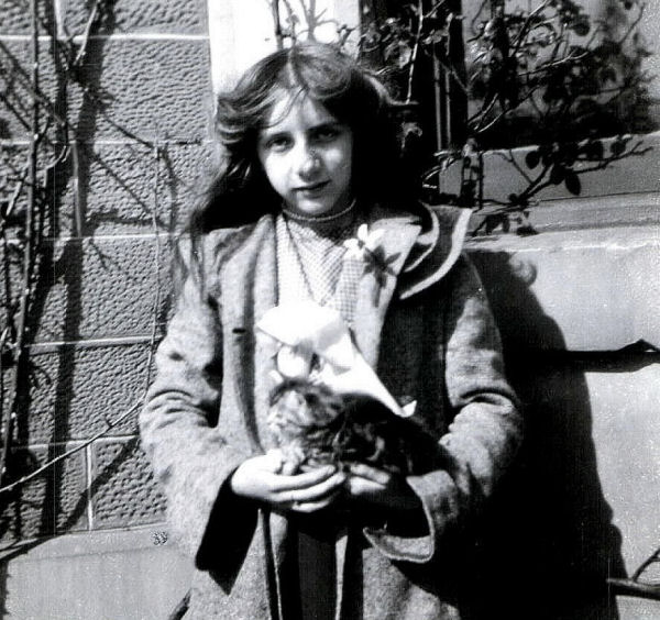 Grandmother as a Girl with Kitten