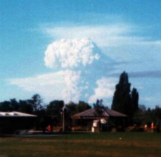 Volcano Explodes