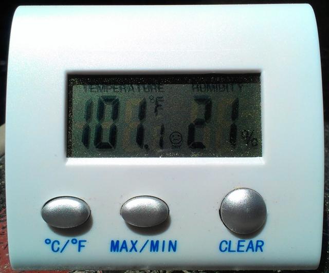 101 Degrees, 21% Humidity