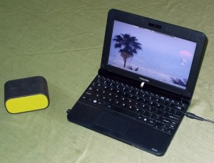 Netbook & Bluetooth Speaker