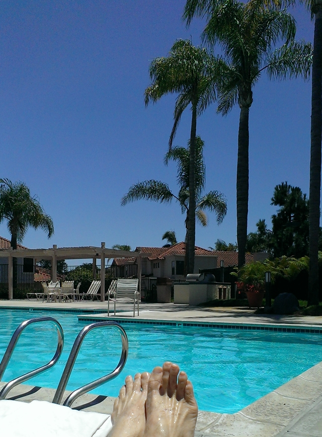A nice afternoon at the pool.